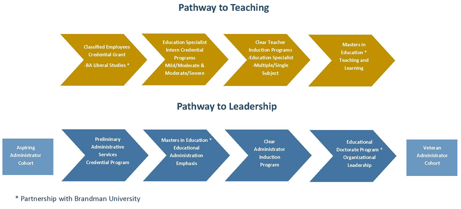 Pathway to Teaching and Leadership Graph
